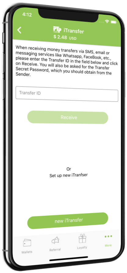 PTPWallet Guide Step2 - iTransfer