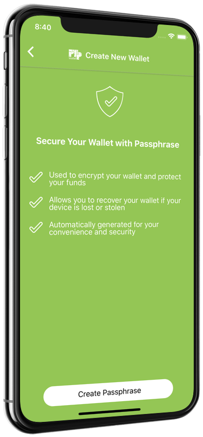PTPWallet Guide Step3 - Create New Wallet