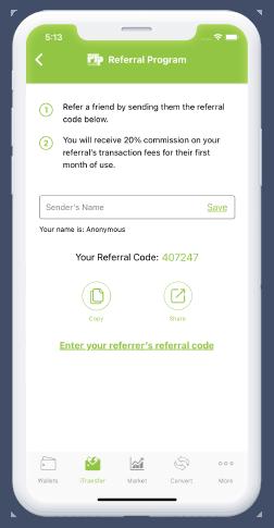 referral program code